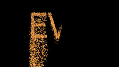 text EVIL appears from the sand, then crumbles. Alpha channel Premultiplied - Animation