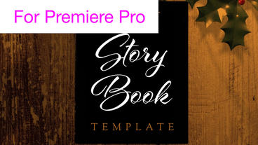 Storybook Opening and Closing Transitions Motion Graphics Template