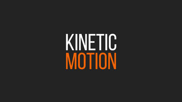 10 Kinetic titles Animationsvorlage