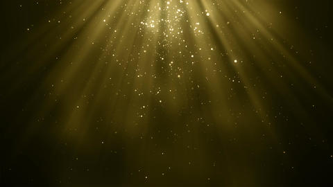 Gold particles bokeh glitter awards dust abstract background loop CG動画素材