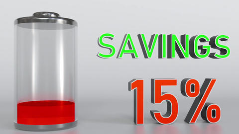 Increasing savings conceptual animation Footage