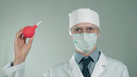 doctor treats patients in hospital Footage