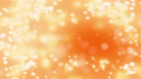Stars falling over beautiful soft golden background with... Stock Video Footage
