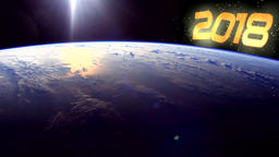 2018, Earth, space, New Year. Background Image