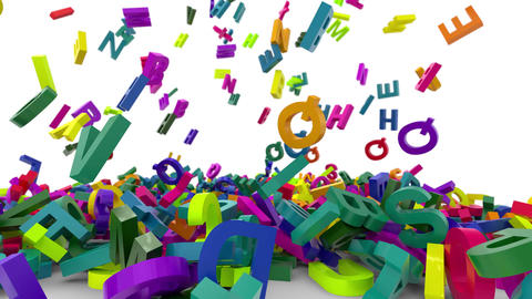 falling letters alphabet Animation