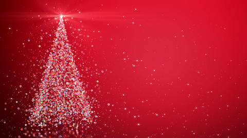 Christmas tree with shining light Animation