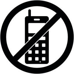 No phone, telephone prohibited symbol. Vector Vector