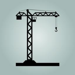 Building Tower crane icon - vector Vector