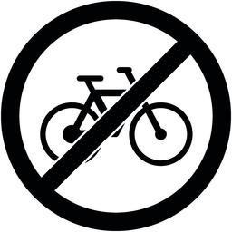 No bicycle sign Vector illustration. Flat design Vector