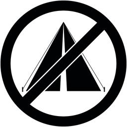 No bivouac, camping prohibited symbol. Vector ベクター