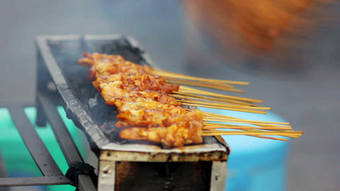 spicy thai indonesian street food Stock Video Footage