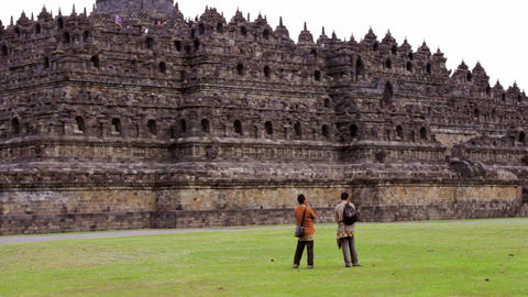 Borobudur, indonesia Stock Video Footage