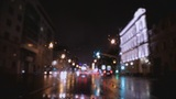 car window rain night background defocused in motion Footage