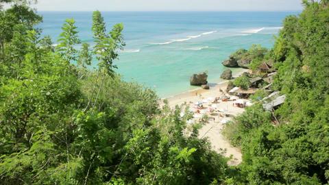 Idyllic Beach at Bali island Footage