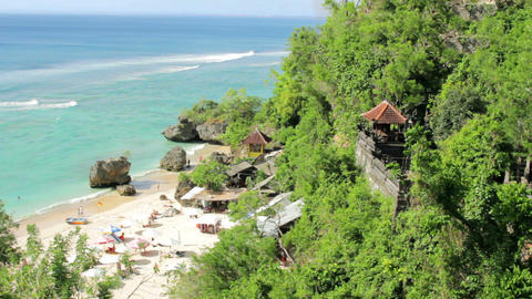 Idyllic Beach at Bali island Stock Video Footage