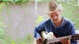 cool caucasian man playing guitar Footage