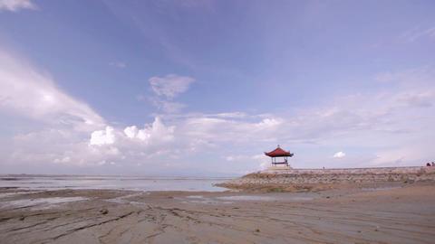 low tide in bali Stock Video Footage