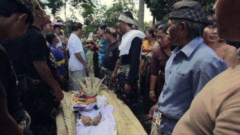 BALI - MAY 2012: burning dead body in balinese funeral Footage