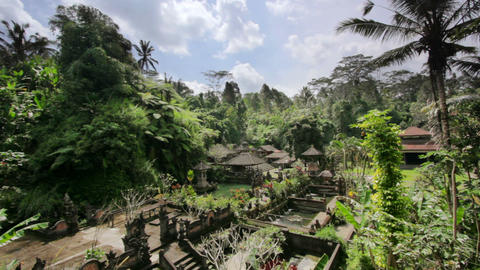 beautiful balinese temple Stock Video Footage