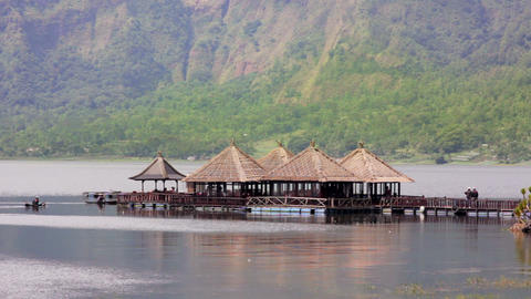 Batur Danau Lake, Bali Stock Video Footage
