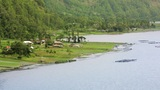 small village by lake, bali Footage