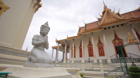 Royal Palace, Phnom Penh, Cambodia Stock Video Footage