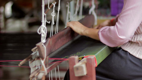 handmade textile manufacturer Stock Video Footage