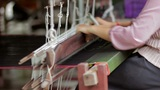 Handmade Textile Manufacturer stock footage