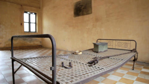 S21 prison, genocide museum Stock Video Footage