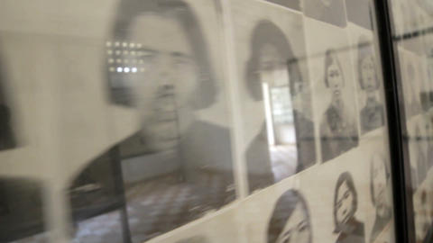 Tortured and Murdered victims pictures Stock Video Footage