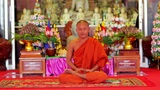 buddhist monk in temple Footage