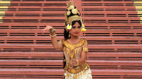 Apsara Dancer Performance in Temple Footage