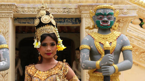 Apsara Dancer Stock Video Footage