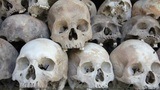 Skulls and bones in Killing field Footage