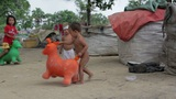 Kids In Cambodian Slums stock footage