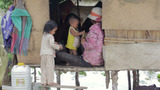 Cambodian Family In Slum stock footage