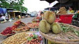 PHNOM PENH - JUNE 2012: local asian market general view Footage