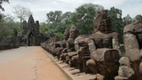 Historical gates in angkor wat Footage