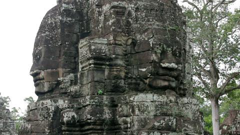 bayon temple, angkor, cambodia Stock Video Footage
