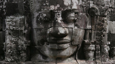 bayon temple, angkor, cambodia Stock Video Footage