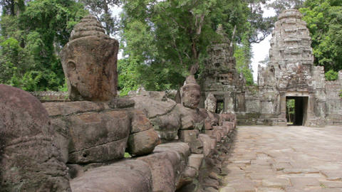 preah khan temple, angkor, cambodia Stock Video Footage