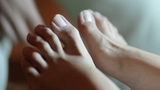 Close up of foot pedicure Footage