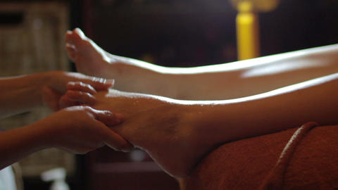 Close up of foot pedicure Stock Video Footage
