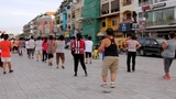 PHNOM PENH - JUNE 2012: outdoor tai chi in city center Footage
