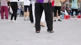 Outdoor Tai Chi In City Center stock footage
