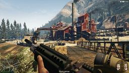 SOCHI. RUSSIA - CIRCA DEC 2015: Gameplay of computer game Grand Theft Auto 5 - o ビデオ