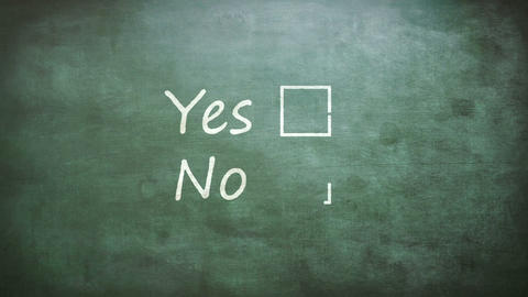 Yes and no options Footage