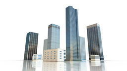 Video 3840x2160 UHD - Layout of the business district of the city with skyscrape ビデオ