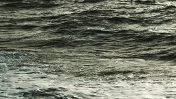 Abstract sea surface near the coast with large waves during a storm Footage