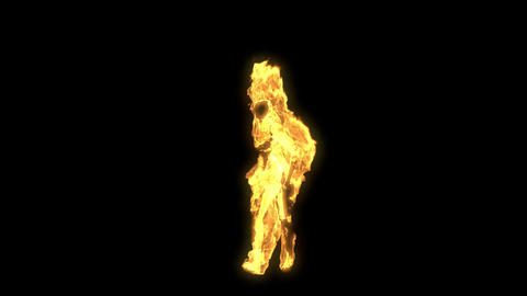Burning Dancing Girl Animation